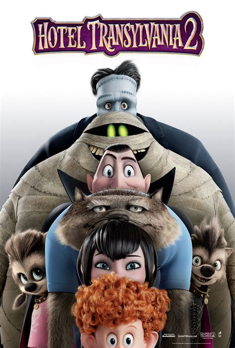 a new hotel transylvania 2 poster features a monstrous lineup comingsoon net
