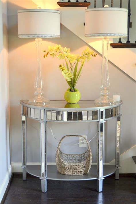 pier one mirrored sofa table foyer decor using pier 1 glass candlestick ls