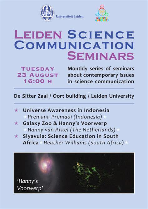 leiden science communication seminar poster unawe