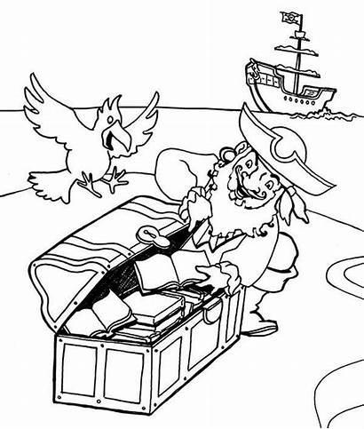 Pirate Coloring Treasure Personnages Hunt Hide Cartoon