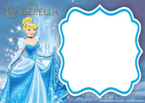 printable cinderella royal invitation templates