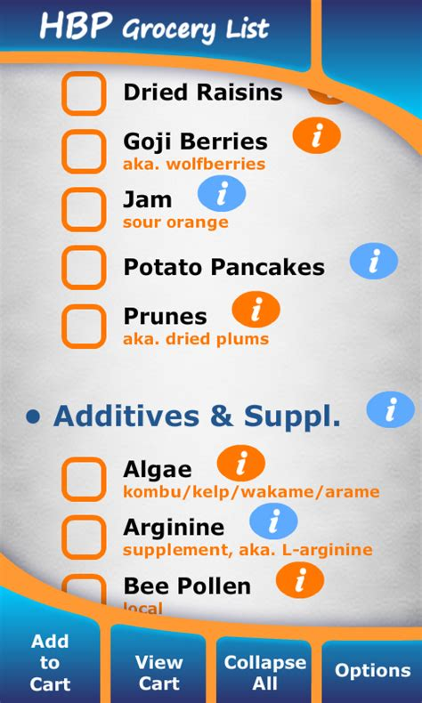 Amazon.com: High Blood Pressure Grocery List: Appstore for