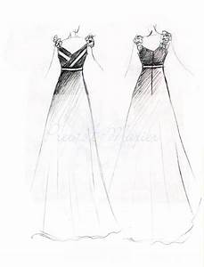 Simple Fashion Design Sketches Of Dresses - Clothing Trends