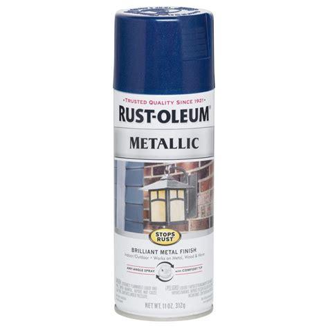 rust oleum stops rust gloss cobalt blue metallic spray
