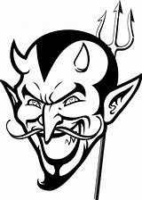 Devil Coloring Printable Halloween Face Colouring Scary Tattoo Looking Evil Christian Tristro Easter Skull Angel Egg 700px 04kb sketch template