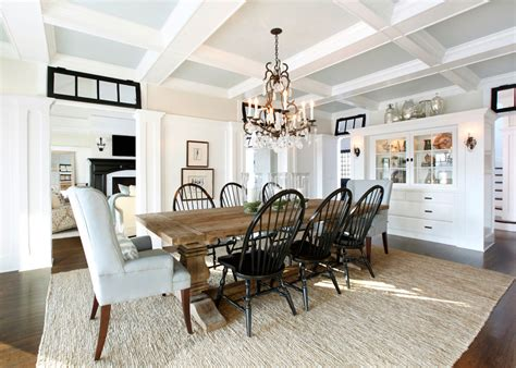 Magnificent Trestle Table In Dining Room Traditional With