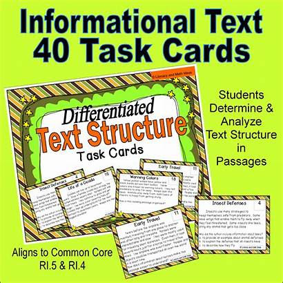 Text Structure Task Cards Informational Reading Grade