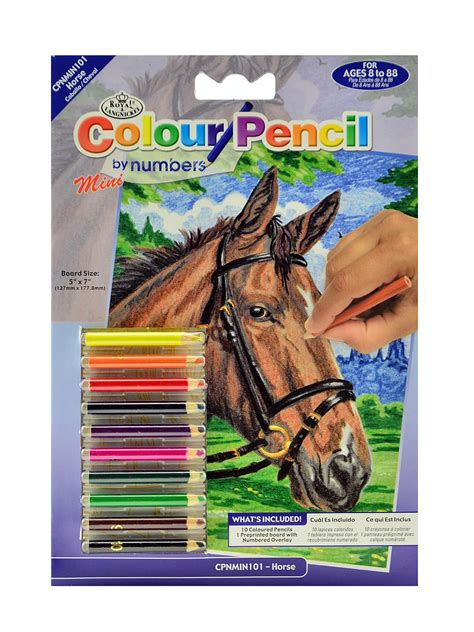 royal langnickel mini color pencil  number kits