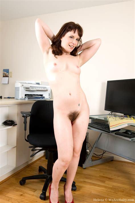 Sexy Secretary Helena Stuffs Her Juicy Bush
