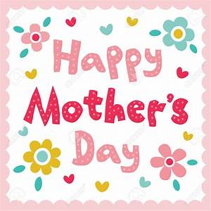 Mother's Day clipart cute - Pencil and in color mother's ...