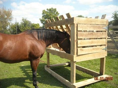 hay feeders for horses pallets hay feeder ideas pallet ideas recycled