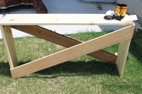 diy sofa table plans remodelaholic stylish and simple diy sofa table