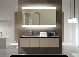 miroir salle de bain lumineux castorama maison design With carrelage adhesif salle de bain avec luminaire atelier led