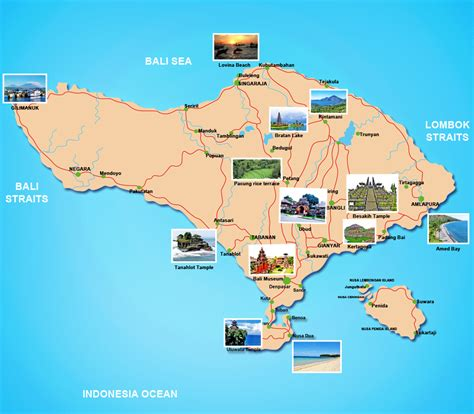 tourist map  bali indonesia bali  packages sam
