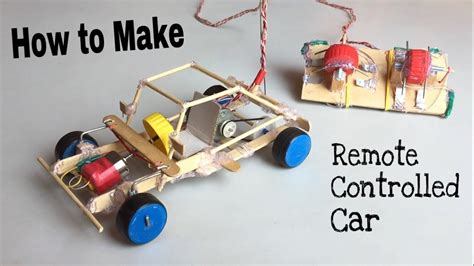 How To Make Electric Car by How To Make A Car With Remote Controlled Out Of