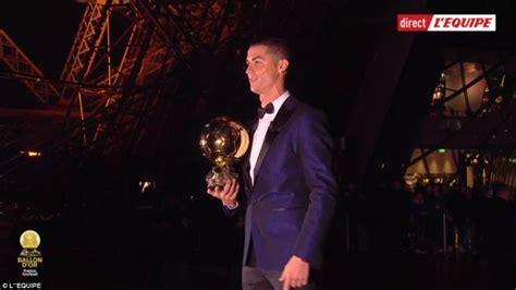 Cristiano Ronaldo Wins Ballon D'Or Award for the 5th time ...