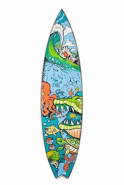 Posca Surfboard Surf Board Surfing Clipart Cool