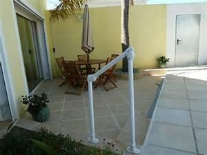 Rampe Pour Escalier : rampe pour les marches d 39 une terrasse projets assemblage direct ~ Melissatoandfro.com Idées de Décoration