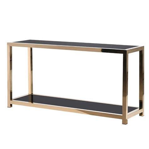 black glass console table minimalist gold metal console table with black glass