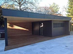 1000 idees sur le theme garage toit plat sur pinterest With ordinary plan maison en pente 14 extension ossature bois avec un toit plat extension de