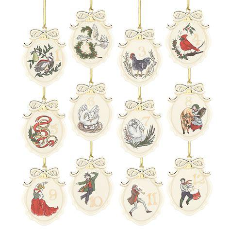 twelve days of christmas 12 pc ornament set ornaments