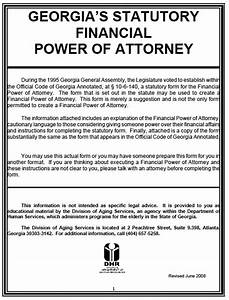 poa for child free georgia durable power of attorney form pdf template