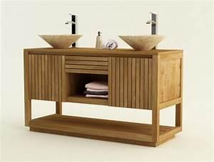Meuble De Salle De Bain En Solde : achat vente meuble de salle de bain teck varese meuble en ~ Edinachiropracticcenter.com Idées de Décoration