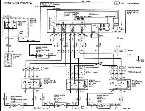 1998 Ford F 150 Power Window Wiring Diagram by 2016 Ford Duty Wiring Schematic Showing Auxiliary