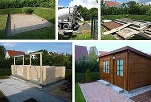 Gartenhaus Ohne Fundament : aufbau eines gartenhauses mit podest fundament ~ Orissabook.com Haus und Dekorationen