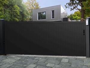 Modele De Portail Coulissant : portail aluminium plein mod le panama menuiserie ~ Premium-room.com Idées de Décoration