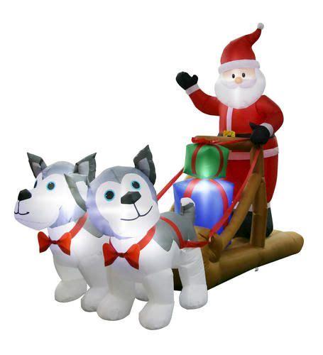 santa huskies inflatable  menards