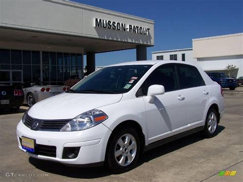 nissan 2008 white 2008 fresh powder white nissan versa 1 8 sl sedan 8087261