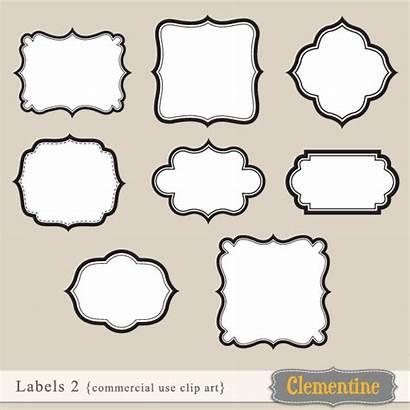 Label Clip Labels Clipart Templates Borders Border