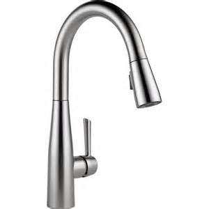 free kitchen faucets delta faucet 9113 ar dst essa arctic stainless pullout spray kitchen faucets efaucets