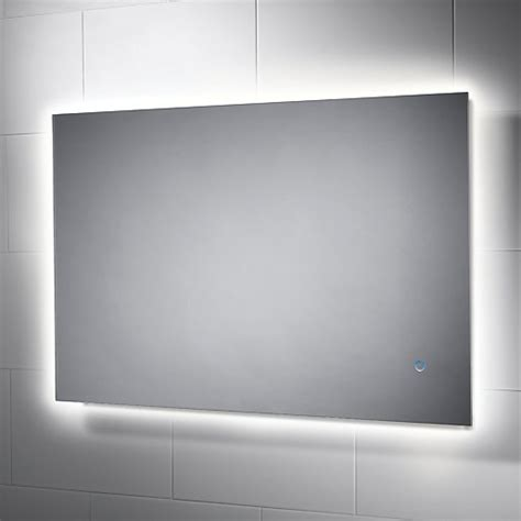 wickes albany backlit metal glass led mirror wickescouk