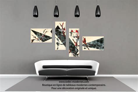 tableau pour chambre à coucher tableau quadripyque déco beige et ultra design