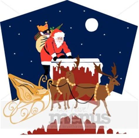 rooftop santa and sleigh rooftop santa clipart clipart archive