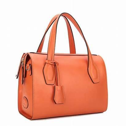 Leather Handbags Bags Orange Handbag Satchel Hand