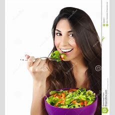 Woman Eating Salad Stock Images  Image 32669874