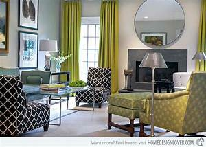 15 contemporary grey and green living room designs house for Green and grey living room