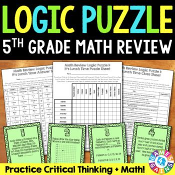 grade math review logic puzzle    year