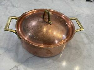 paul revere limited edition   copper clad cookware     stock pot ebay