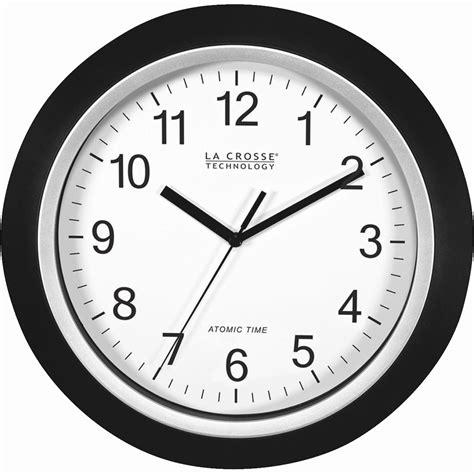 la crosse atomic analog wall clock quartz large numbers