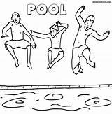 Coloring Pool Curry Stephen Printable Printables Pool4 sketch template