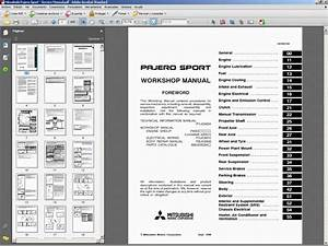 Mitsubishi Pajero Sport Service Manual