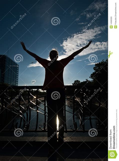 Free Teenager Embracing The Sky Royalty Free Stock Images