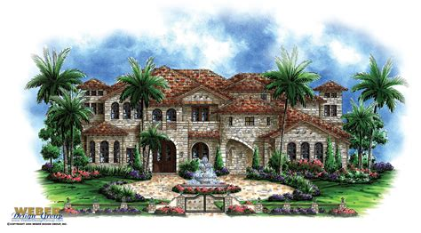 Mediterranean Villa House Plans by Tuscan House Plans Mediterranean Home Floor Courtyard