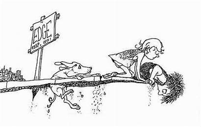 Shel Line Drawings Silverstein Sidewalk Ends Illustrations