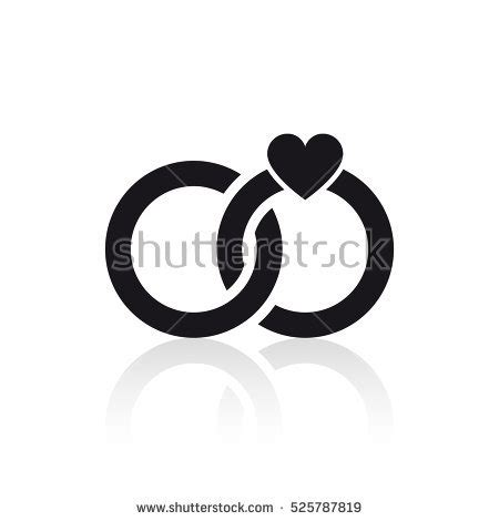wedding rings icon stock vector 525787819