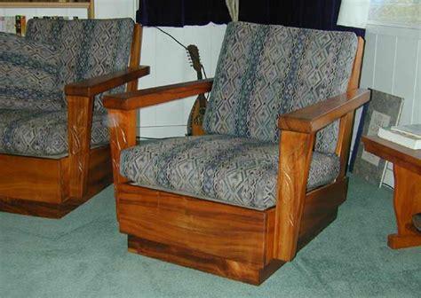 solid koa wood  piece living room set